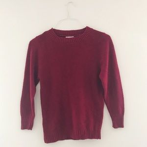 VINTAGE: red 100% acrylic sweater